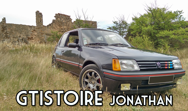Jonathan – 205 GTI 1.6L 115cv Gris Graphite AM 88